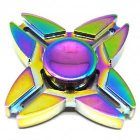 Sakura Metal Quad Fidget Spinner - Multi-Color