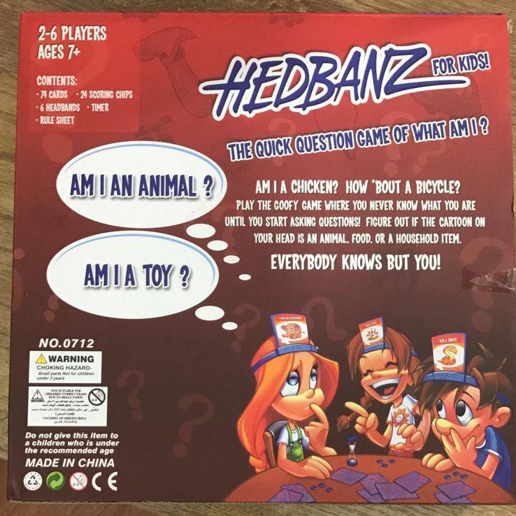 Headbanz Board Game Tebak Kata - 8 .