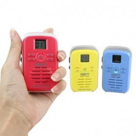 TDXONE Kids Mini Walkie Talkie Single Band 3W 99CH UHF - Q3 - Black - 7