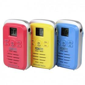 TDXONE Kids Mini Walkie Talkie Single Band 3W 99CH UHF - Q3 - Black - 8