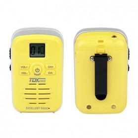 TDXONE Kids Mini Walkie Talkie Single Band 3W 99CH UHF - Q3 - Black - 9
