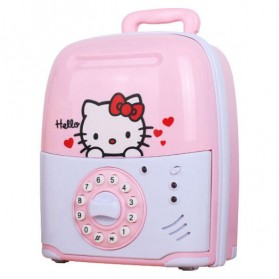 Celengan Kartun Lock Password - Pink