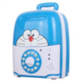 Celengan Kartun Lock Password - Blue
