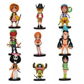 Action Figure One Piece 9 PCS - Model 64