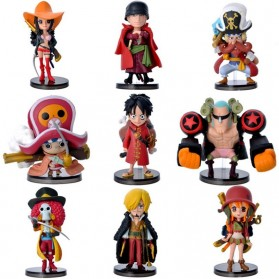 Action Figure One Piece 9 PCS - Model 67