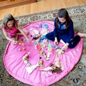 Kantong Mainan Lego Portable - Pink