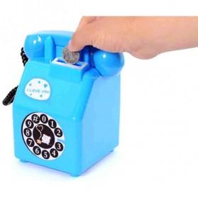 Celengan Model Telepon Koin - Blue