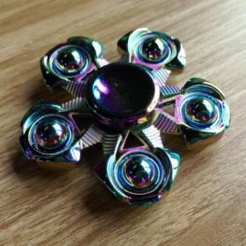 Pentagon Metal Fidget Spinner - Multi-Color