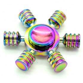 Hexagonal Metal Fidget Spinner - Multi-Color