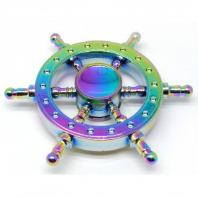 Pirate Wheel Metal Fidget Spinner - Multi-Color