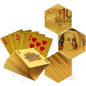 Kartu Remi Poker Lapisan Gold Foil Motif Dollar - THKK9273A - Golden - 3
