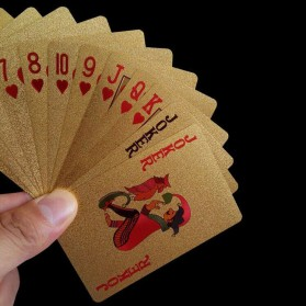 Kartu Remi Poker Lapisan Gold Foil Motif Dollar - THKK9273A - Golden - 6
