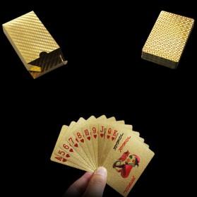 Kartu Remi Poker Lapisan Gold Foil Motif Dollar - THKK9273A - Golden - 7