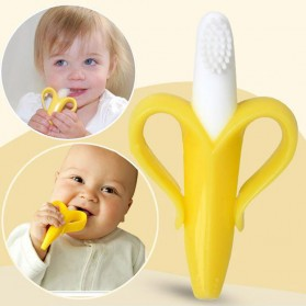 HEONYIRRY Dot Empeng Gigitan Bayi Toothbrush Baby Teether - M028 - Yellow - 4