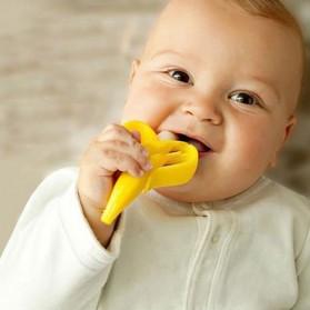 HEONYIRRY Dot Empeng Gigitan Bayi Toothbrush Baby Teether - M028 - Yellow - 5