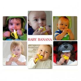 HEONYIRRY Dot Empeng Gigitan Bayi Toothbrush Baby Teether - M028 - Yellow - 6