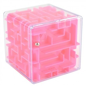 Mainan - 3D Maze Labyrinth Speed Puzzle Cube - Pink
