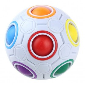 OCDAY Fidget Toy Sperical Magic Rainbow Puzzle Ball - PTO - 01EQ - White