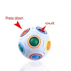 OCDAY Fidget Toy Sperical Magic Rainbow Puzzle Ball - PTO - 01EQ - White - 2