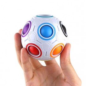 OCDAY Fidget Toy Sperical Magic Rainbow Puzzle Ball - PTO - 01EQ - White - 6