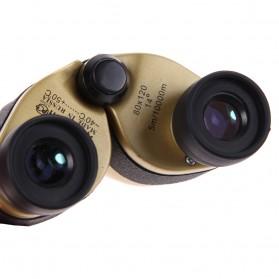 Baigish Teropong Binocular Outdoor Magnification 80 x 120 - A1040 - Golden - 6
