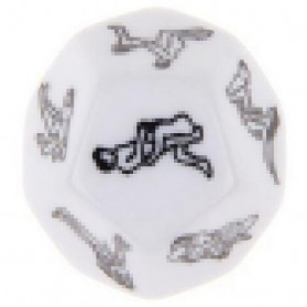 Board Game - Besglo Dadu Polyhedral D12 Motif Kamasutra - S0004 - White