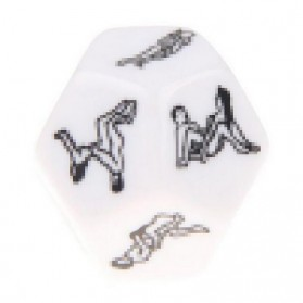 Besglo Dadu Polyhedral D12 Motif Kamasutra - S0004 - White - 2
