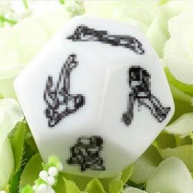 Besglo Dadu Polyhedral D12 Motif Kamasutra - S0004 - White - 4