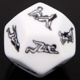 Besglo Dadu Polyhedral D12 Motif Kamasutra - S0004 - White - 5