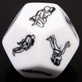 Besglo Dadu Polyhedral D12 Motif Kamasutra - S0004 - White - 6