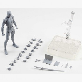SHFiguart Body Kun DX Set Mannequin Action Figure Male Model (Replika 1:1) - Gray