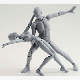 SHFiguart Body Kun DX Set Mannequin Action Figure Male Model (Replika 1:1) - Gray - 4
