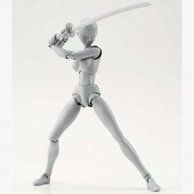 SHFiguart Body Chan DX Set Mannequin Action Figure Female Model (Replika 1:1) - Gray - 2