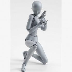 SHFiguart Body Chan DX Set Mannequin Action Figure Female Model (Replika 1:1) - Gray - 4