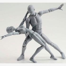 SHFiguart Body Chan DX Set Mannequin Action Figure Female Model (Replika 1:1) - Gray - 5