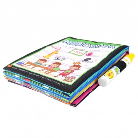 COOLPLAY Buku Mewarnai Cat Air Anak Magic Water Book - YQ5906 - Multi-Color