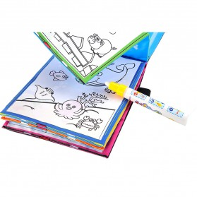 COOLPLAY Buku Mewarnai Cat Air Anak Magic Water Book - YQ5906 - Multi-Color - 7