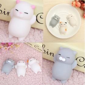 Squishy Toy Model Kucing - White - 3