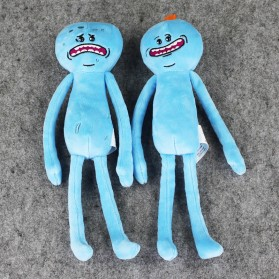 Plush Toy Boneka Rick and Morty Mr Meeseeks Smile Face - Blue - 6