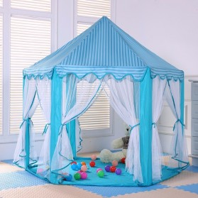 EASYKIDS Tenda Bermain Anak Model Istana Kids Portable Tent - KTH77 - Blue