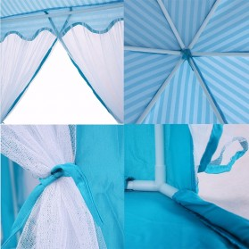 EASYKIDS Tenda Bermain Anak Model Istana Kids Portable Tent - KTH77 - Blue - 4