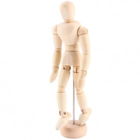 Mini Model Mannequin Kayu 8 Inch