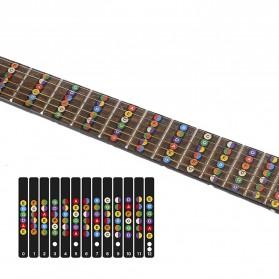Stiker Penanda Fret Gitar Fretboard Guitar Label - Black