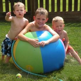 Bola Air Spray Sprinkler Water Ball Smash It Toys - Multi-Color - 2