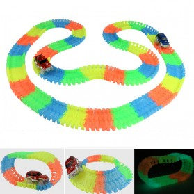 Track Mobil-Mobilan Glow in The Dark 165PCS with 1 LED Car - Mix Color