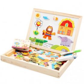 Simingyou Wooden Puzzle Multifungsi Anak-Anak - WDX41 - 1