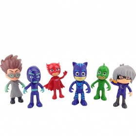Action Figure Pj Masks Catboy Owlette Gekko 6PCS - Multi-Color