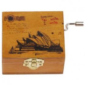 Kotak Musik Klasik Vintage Wooden Music Box - Yellow - 3