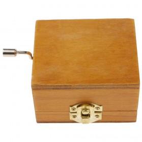 Kotak Musik Klasik Vintage Wooden Music Box - Yellow - 4