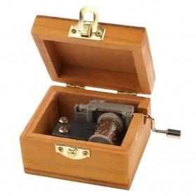Kotak Musik Klasik Vintage Wooden Music Box - Yellow - 5